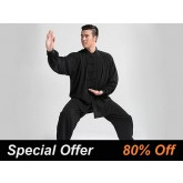 Tai Chi Clothing Set Professional Black Autumn Winter