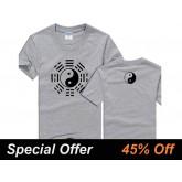 Tai Chi T-shirt Eight Trigrams Grey
