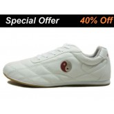 Double Star  Leather Tai Chi Shoes WhiteTai Chi Pattern