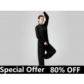 Tai Chi Clothing Set Casual Style Black