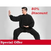 Tai Chi Clothing Set Men Spring Black