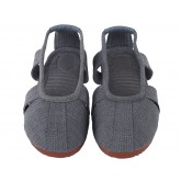 Traditional Shaolin Kung Fu Shoes Cowhells Sole Grey