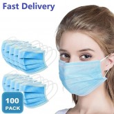 100 Pieces of Professional Mouth Mask 3 Layers Disposable Anti-Dust Anti-Fog Fast Delivery