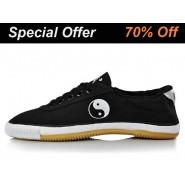 Warrior Kung Fu Shoes Black Tai Chi Pattern, Kung Fu Shoes