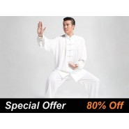 Tai Chi Clothing, Tai Chi Uniform, Tai Chi Clothing for man, Tai Chi Clothing Set Professional White Jinwu