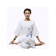 zen uniform; meditation uniform; zen meditation uniform; summer zen uniform; summer meditation uniform; cotton zen uniform; cotton meditation uniform; summer zen meditation women uniform; summer v-collar zen meditation women cotton uniform