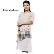 lay buddhist dress; chinese style dress; cotton dress; casual dress; autumu casual dress; autumn casual flax cotton chinese style lay buddhist dress
