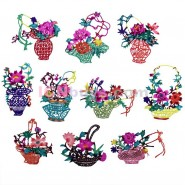 Chinese Paper Cutting, Chinese Paper Cutting Flowers Baskets