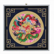 Chinese Paper Cutting, Decorative Paper-cut Frame, Decorative Paper-cut Frame Chinese Dragons