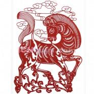 Chinese Paper Cutting, Decorative Paper-cut Frame, Paper Cutting Chinese Zodiac Horse Popular