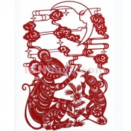 Chinese Paper Cutting, Decorative Paper-cut Frame, Paper Cutting Chinese Zodiac Rat charm