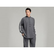 Professional Tai Chi Cloting Uniform Pure Cotton Thicken for Winter Dark Grey