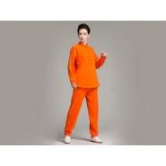 Professional Tai Chi Cloting Uniform Pure Cotton Thicken for Winter Yellow