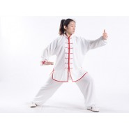Tai Chi Clothing, Tai Chi Uniform, Tai Chi Clothing Woman, Tai Chi Uniform Woman, Tai Chi Clothing Rubber White Red, Tai Chi Clothing summer,