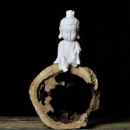 Buddha Figurine; Buddha Ornament; Buddha Porcelain Handicraft; Buddha Figurine Handmade; Q-Version Guanyin Original Porcelain Ornament Handicraft
