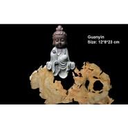 Buddha Figurine; Buddha Ornament; Buddha Porcelain Handicraft; Buddha Figurine Handmade; Q-Version Sakyamuni Guanyin Ksitigarbha Buddha Original Porcelain Ornament Handicraft