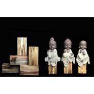 Buddha Figurine; Buddha Ornament; Buddha Porcelain Handicraft; Buddha Figurine Handmade; Q-Version Sakyamuni Guanyin ksitigarbha Buddha Original Porcelain Ornament Handicraft with wooden base