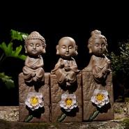 Buddha Figurine; Buddha Ornament; Buddha Porcelain Handicraft; Buddha Figurine Handmade; Sakyamuni/ Guanyin/ Manjusri Buddha Porcelain Figurine Ornament Handicraft with Lotus