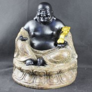 Maitreya Buddha; South-East Asia Buddha; God of Fortune;  Original Chinaware; Handicraft; Handicraft Ornament;  South-East Asia Maitreya Buddha with God of Fortune Original Chinaware Handicraft Ornament