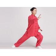 Tai Chi Clothing, Half-sleeve Tai Chi Clothing, Tai Chi Clothing Pink, Tai Chi Clothing for Woman, Tai Chi Uniform, Chinese Tai Chi Clothing, Chinese Tai Chi Uniform, Tai Chi Casual Clothing