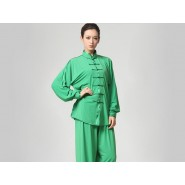 Tai Chi Clothing Set Casual Style Green