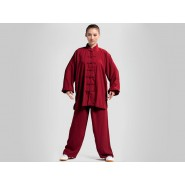 Tai Chi Clothing, Tai Chi Uniform, Tai Chi Clothing for woman, Tai Chi Clothing Set Professional  burgundy Jinwu
