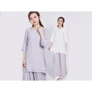 Tai Chi Clothing Short-sleeve Suit for Women Summer Tencel Tops Shirt