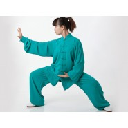 Tai Chi Clothing, Flax Tai Chi Clothing, Green Tai Chi Clothing, Tai Chi Clothing for Woman, Tai Chi Uniform, Chinese Tai Chi Clothing, Chinese Tai Chi Uniform, Tai Chi Casual Clothing