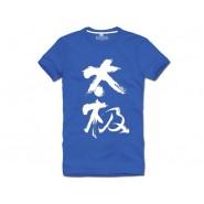 Tai Chi T-shirt, Tai Chi T-shirt Chinese Characters, Tai Chi T-shirt Blue