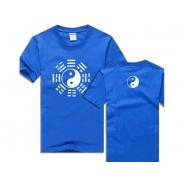 Tai Chi T-shirt, Tai Chi T-shirt Eight Trigrams, Tai Chi T-shirt Eight Trigrams White