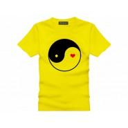 Tai Chi T-shirt, Tai Chi T-shirt Heart, Tai Chi T-shirt Yellow