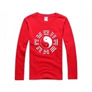 Tai Chi T-shirt, Tai Chi T-shirt long sleeve, Tai Chi T-shirt Red