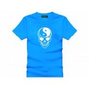 Tai Chi T-shirt, Tai Chi T-shirt Skull, Tai Chi T-shirt Blue
