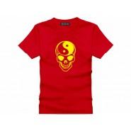 Tai Chi T-shirt, Tai Chi T-shirt Skull, Tai Chi T-shirt Red
