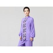 Tai Chi Clothing women long-sleeved Purple Uniforms