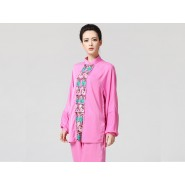 Tai Chi Clothing women long-sleeved light pink uniform