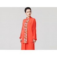 Tai Chi Clothing women long-sleeved Orange Uniforms