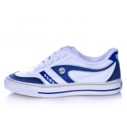 Warrior Footwear badminton shoes white blue stripe