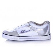 Warrior Footwear White Basketball Shoes Silver Stripe