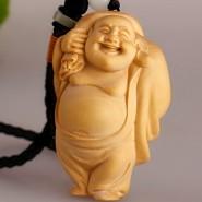 Wood Carving; Maitreya Buddha;Maitreya Buddha WIth Bag;Maitreya Buddha Ornament; Maitreya Buddha Pendant;  Maitreya Buddha Handicraft; Wood Carving Maitreya Buddha WIth Bag Handicraft Ornament  Pendant