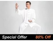 Tai Chi Clothing Set Professional White Spring Summer