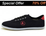 Double Star Canvas Tai Chi Shoes Black