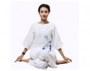 Summer V-Collar Zen Meditation Women Cotton Uniform