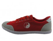 Double Star Enhanced Canvas Tai Chi Shoes Red Tai Chi Pattern