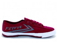 Feiyue Plain Canvas Sneakers -  Claret Shoes