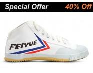 Feiyue High Top Kung Fu Shoes White