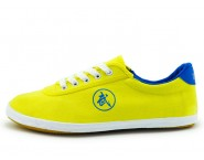 Double Star Canvas Tai Chi Shoes Yellow