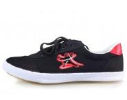 Double Star Canvas Tai Chi Shoes Black Tai Chi Quan Pattern