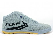 Feiyue Plain High Top Lovers Sneaker - Light Grey Shoes