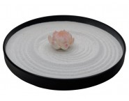 ICNBUYS Mini Zen Garden Pink Lotus Set